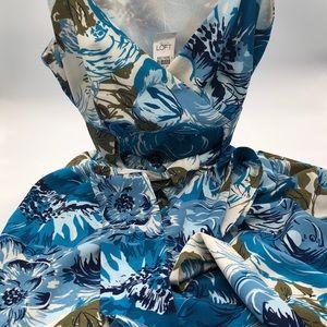 Ann Taylor Loft Knee Length Print Dress Sleeveless